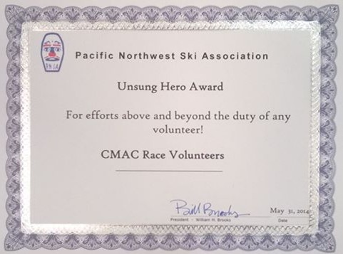 Crystal Mountain Alpine Club Cmac Cmac Race Volunteers